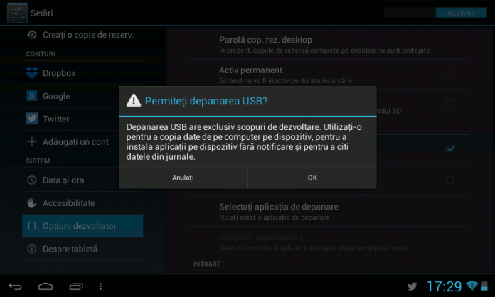 USB Debugging - Depanare USB - Android