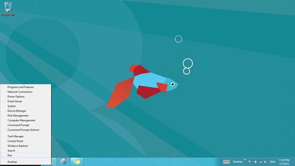 Windows 8 Run Command