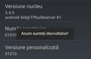 Optiuni Dezvoltator - Android