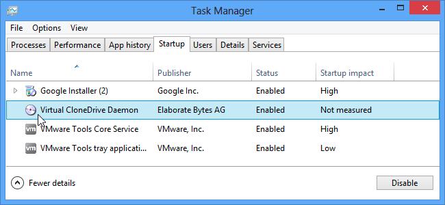 Dezactivare programe Startup - Windows 8