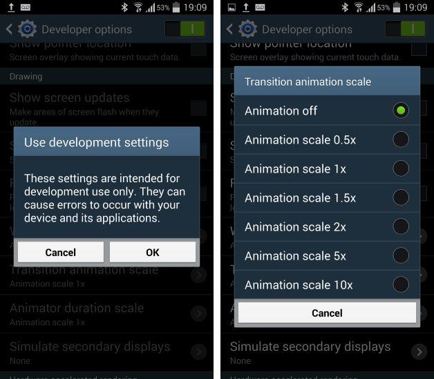 Dezactivare animații - Galaxy S3