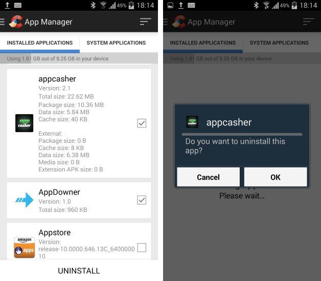 Dezinstalare aplicații - Ccleaner - Android - Galaxy S3
