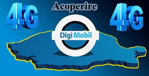 Acoperire 4G Digi Mobil RCS-RDS