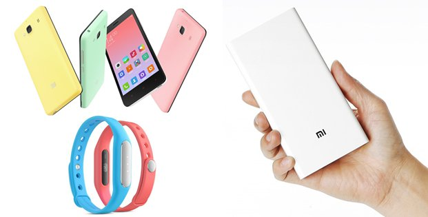 Xiaomi Mi Band 1s, Mi Power Bank 20.000 mAh, Redmi 2A