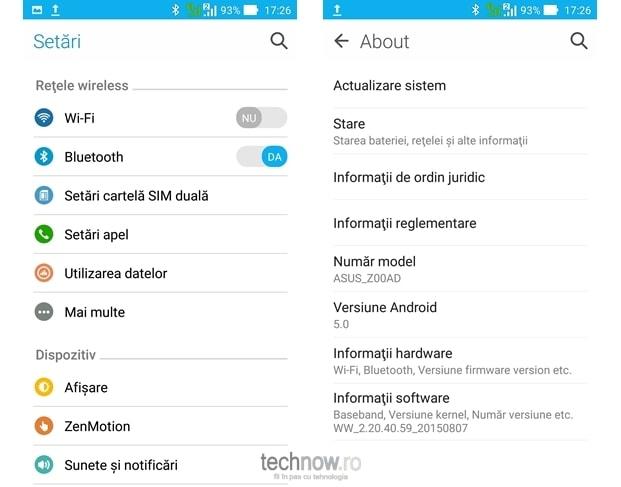 ASUS Zenfone 2 ZE551ML - software