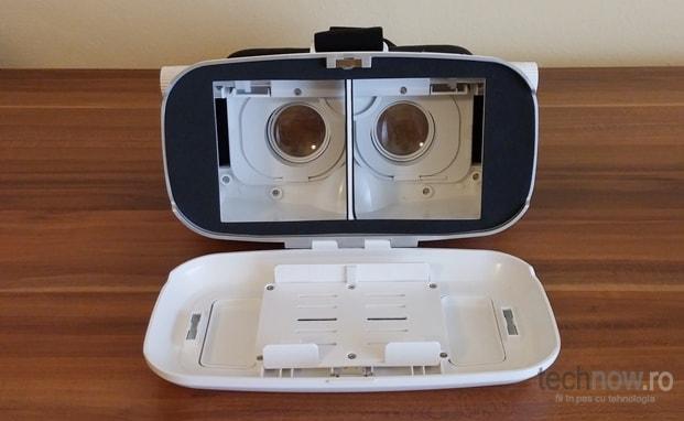 Ochelari VR Shinecon 3D VR - capac frontal, introducere telefon